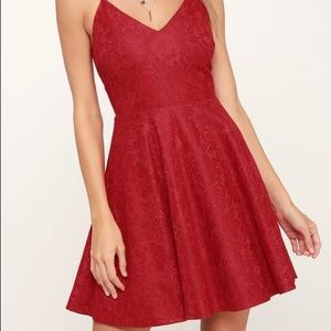lulus way with words berry red dress